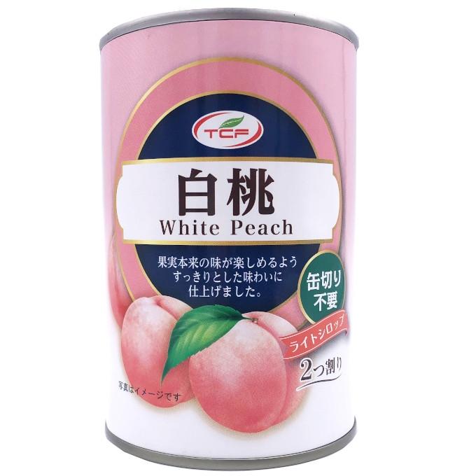 白桃缶詰 4号缶 2つ割り EO缶