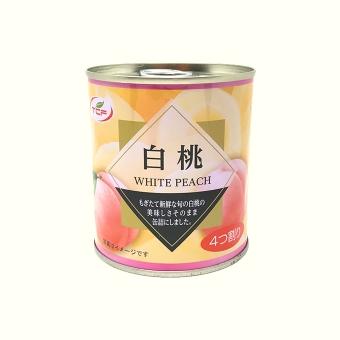 白桃缶詰 5号缶 E.O.缶 4つ割り