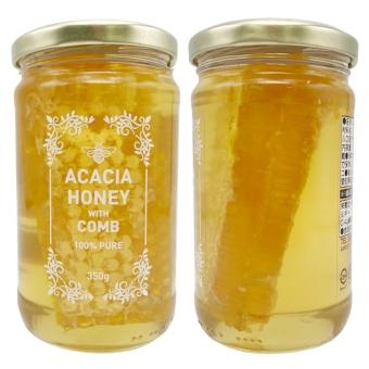 トルコ産巣入りアカシア蜂蜜 (350g)